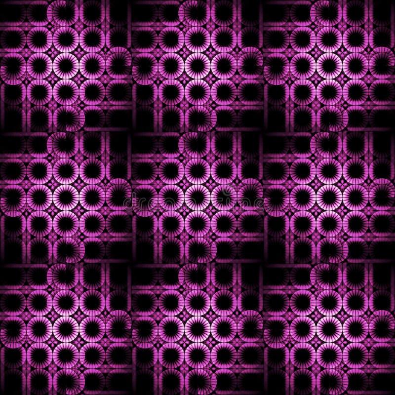 Чернота абстрактной регулярн картины кругов фиолетовая фиолетовая иллюстрация штока