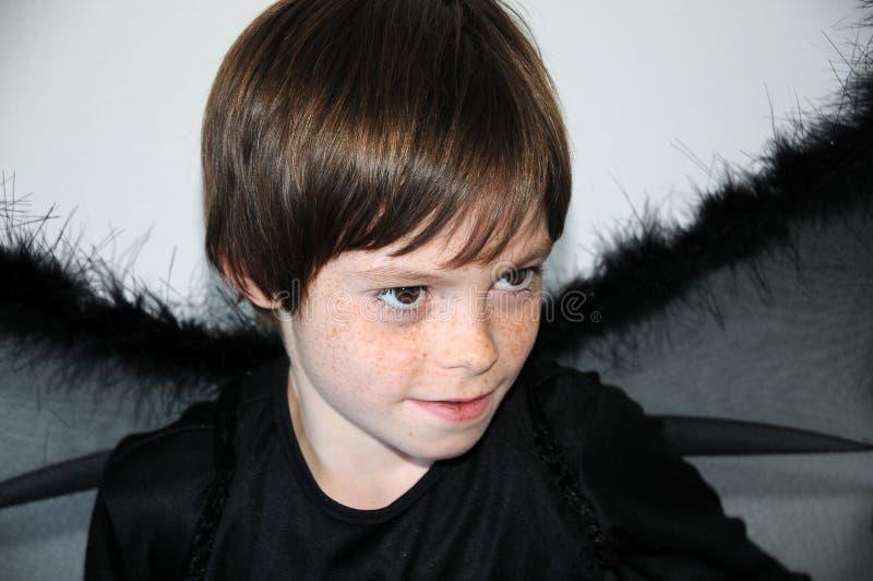 чернота ангела стоковая фотография