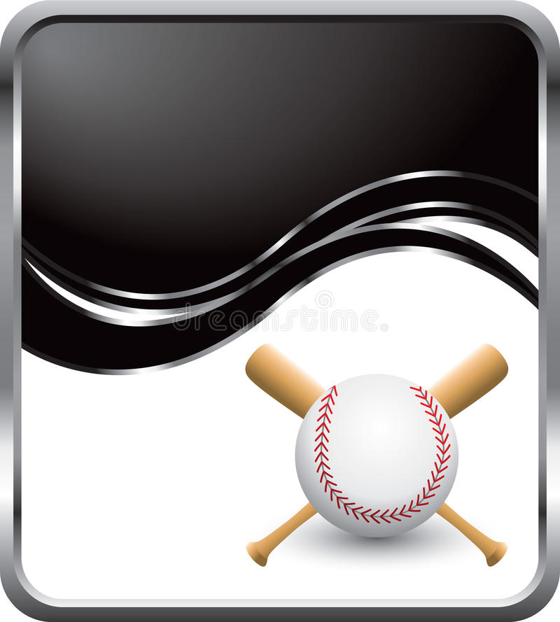 чернота бейсбола рекламы иллюстрация штока