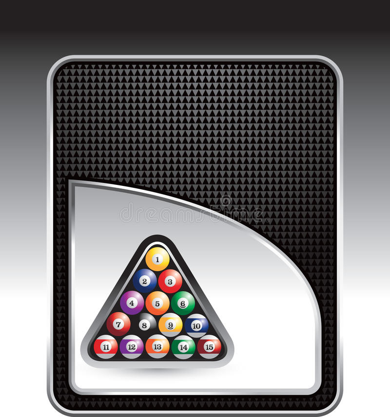 чернота биллиарда шариков предпосылки checkered иллюстрация штока