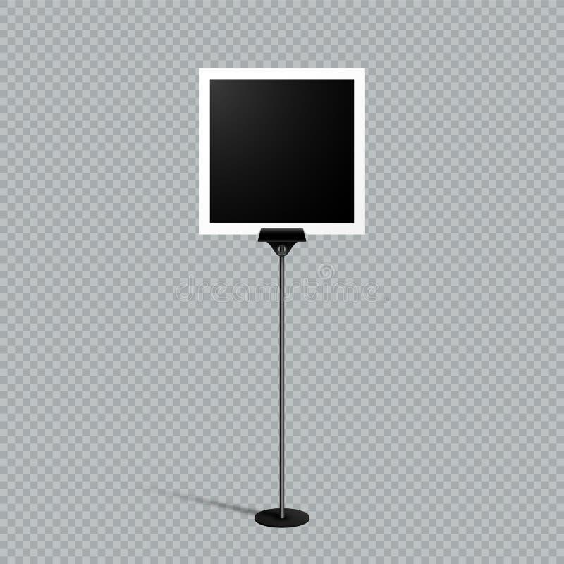 Чернота бумажного текстового поля стойки рамки фото примечания одиночная иллюстрация штока