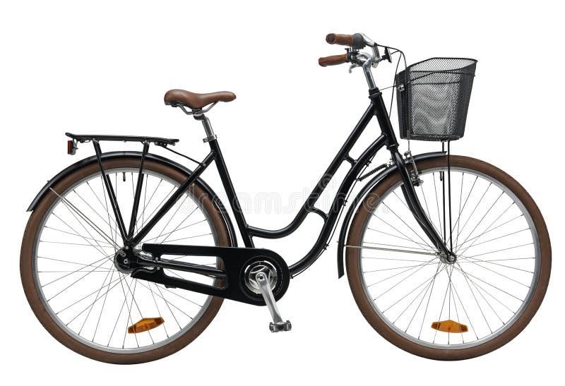 Чернота велосипеда города стоковое изображение