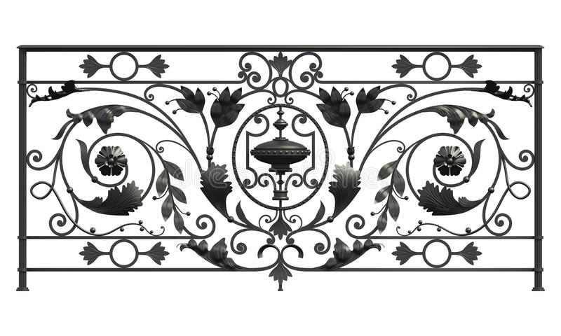 Чернота выковала решетку иллюстрация вектора