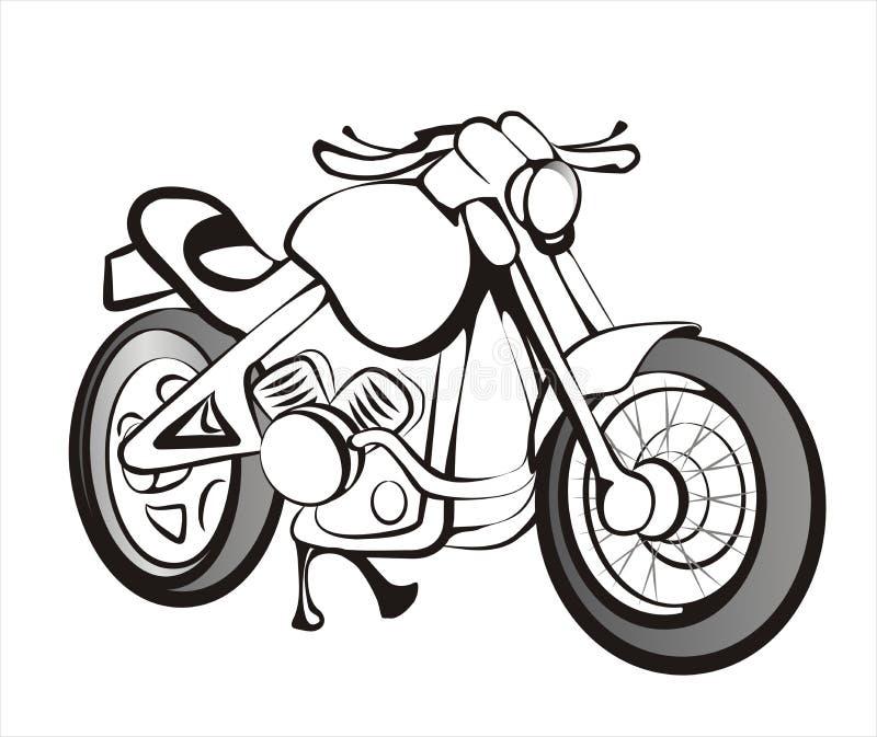 чернота выравнивает мотоцикл иллюстрация штока