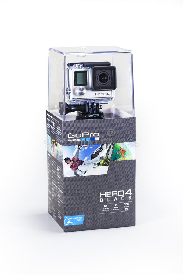 Чернота героя 4 GoPro стоковые изображения