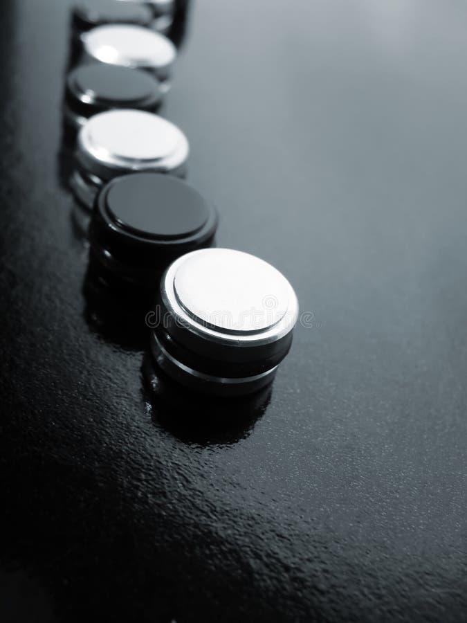 чернота застегивает белизну стоковые фотографии rf