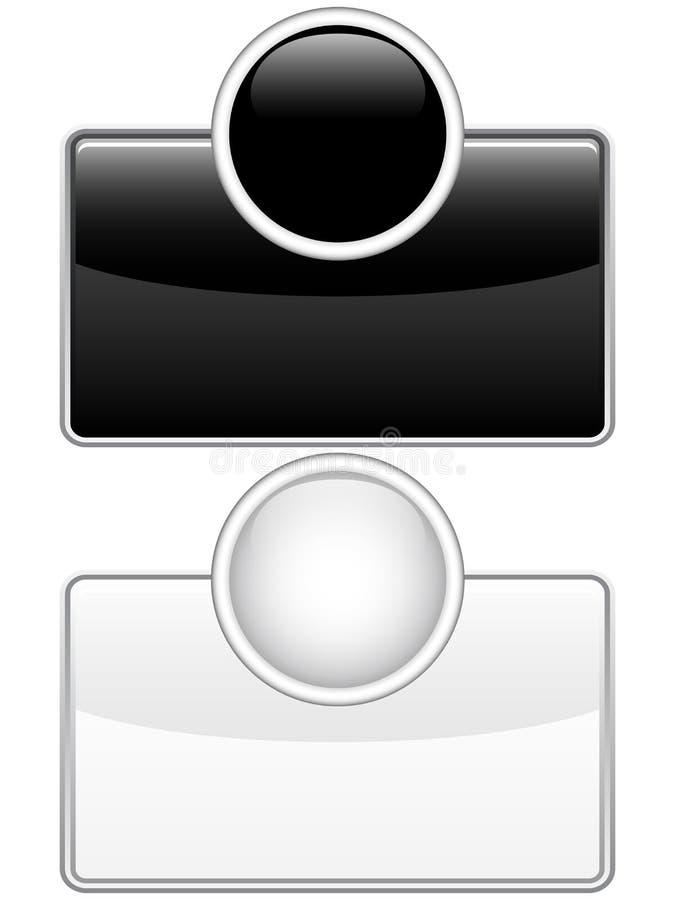 чернота застегивает лоснистую сеть белым иллюстрация штока