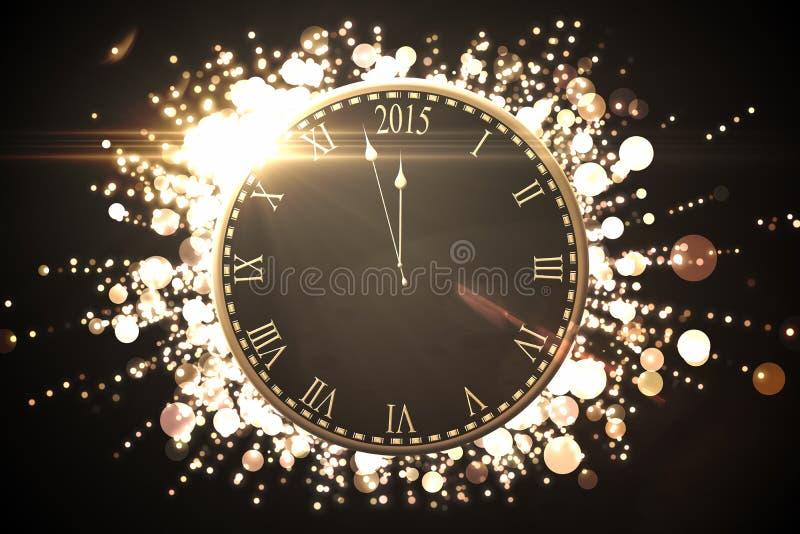 Чернота и график Нового Года золота бесплатная иллюстрация