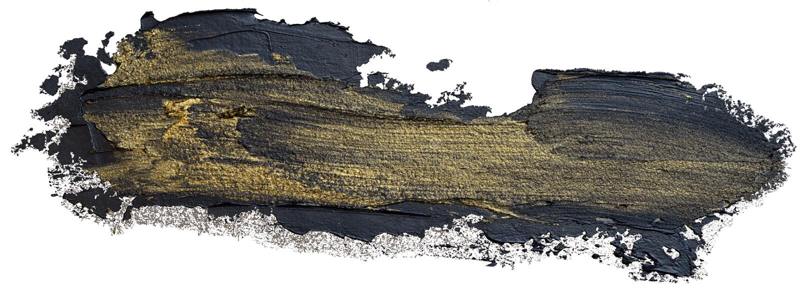 Чернота и шаблон brushstroke золота иллюстрация вектора