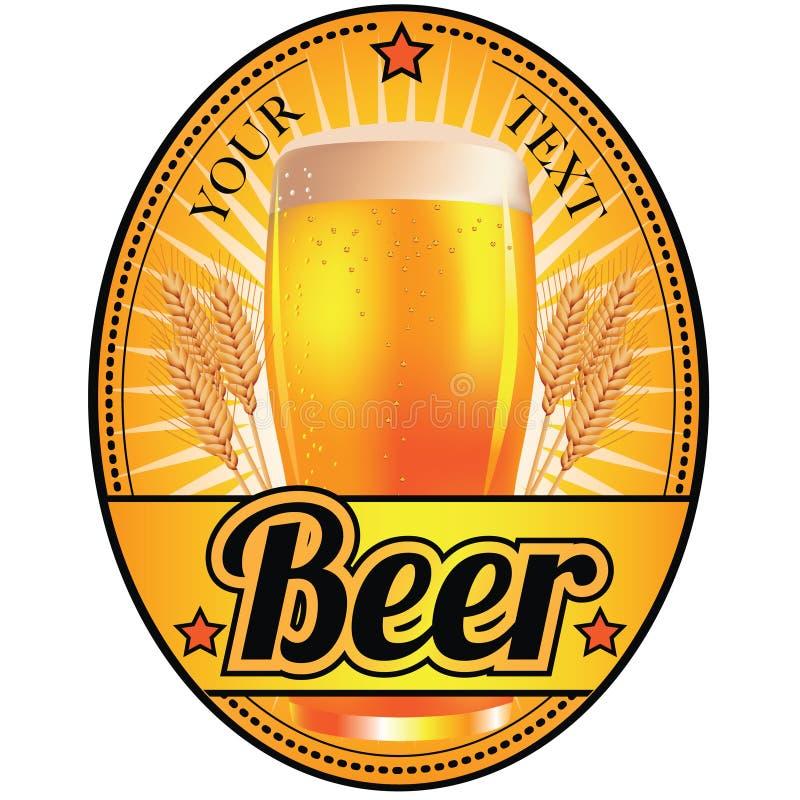 Чернота и ярлык светлого пива золота бесплатная иллюстрация