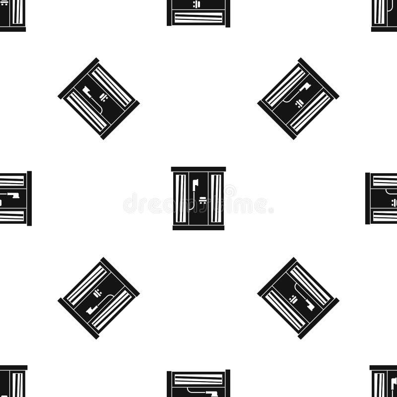 Чернота картины кабины ливня безшовная иллюстрация вектора