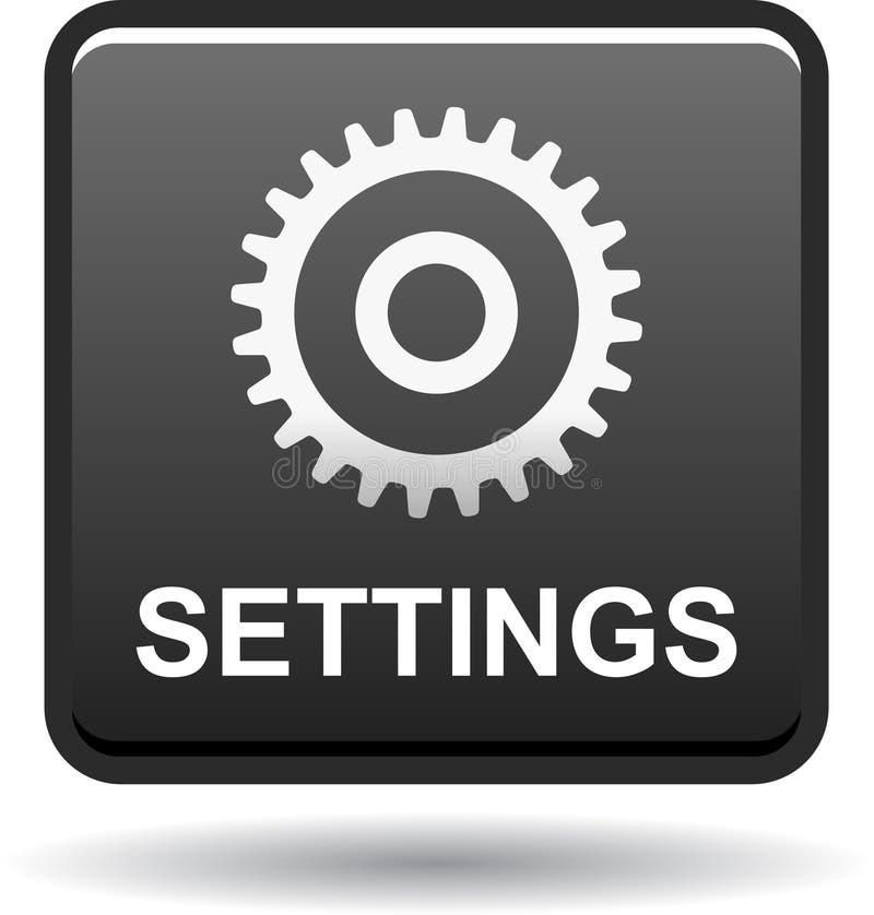 Чернота кнопки сети установок иллюстрация вектора