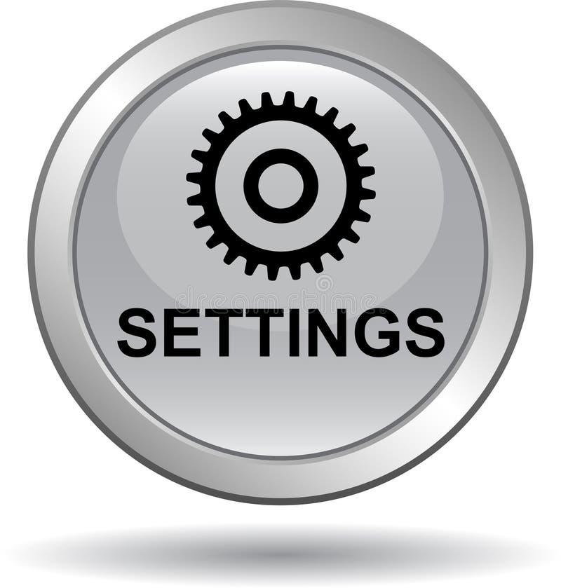 Чернота кнопки сети установок бесплатная иллюстрация