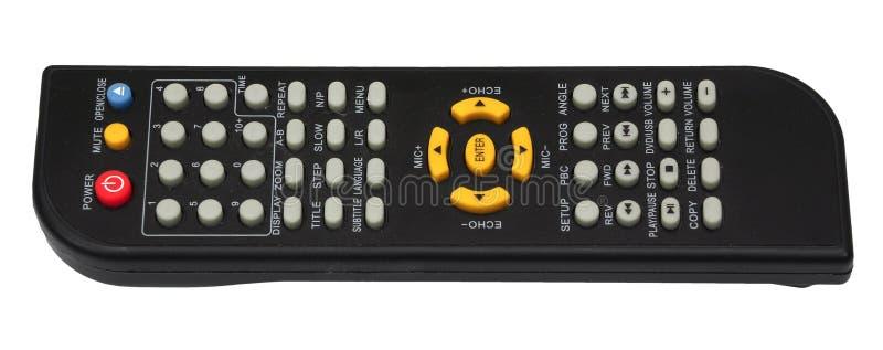 чернота кнопочной панели дистанционного управления ТВ изолированная на белой предпосылке стоковые фотографии rf