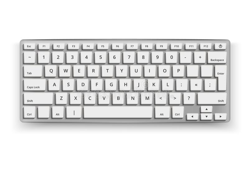 Чернота модель-макета 3d клавиатуры настольного компьютера вектора реалистическая бесплатная иллюстрация