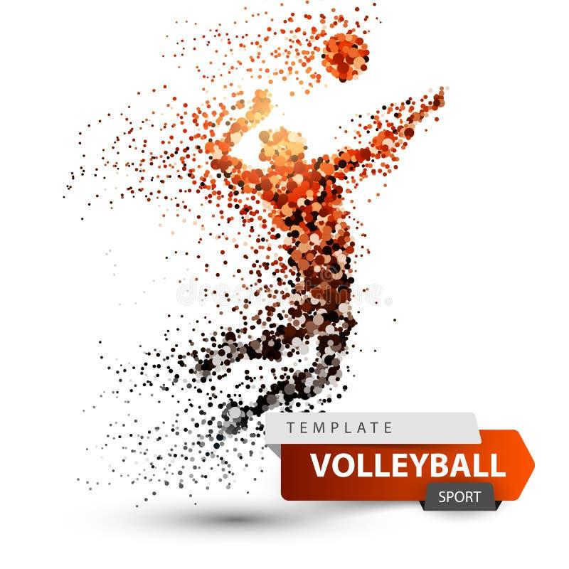 чернота над волейболом студии съемки игрока Иллюстрация игры точки иллюстрация вектора