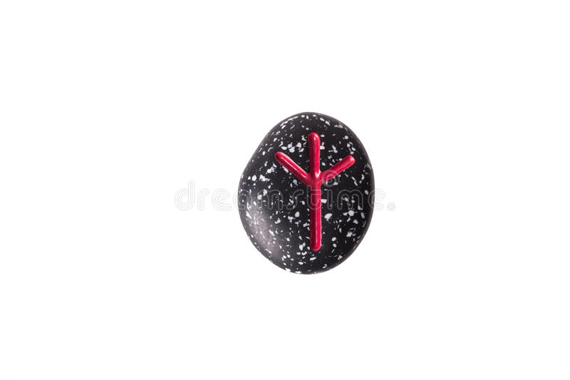 Чернота облицовывает rune стоковое изображение