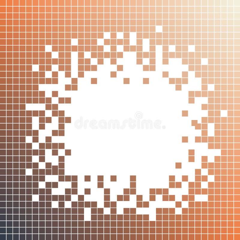 Чернота, оранжевая квадратная картина Точки мозаики пиксела бесплатная иллюстрация