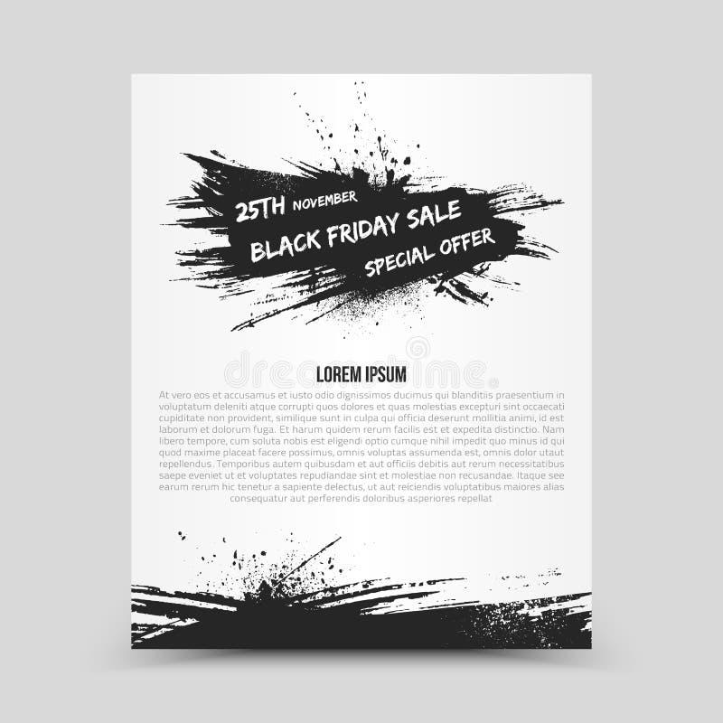 Чернота пятница шаблона дизайна рогульки вектора бесплатная иллюстрация