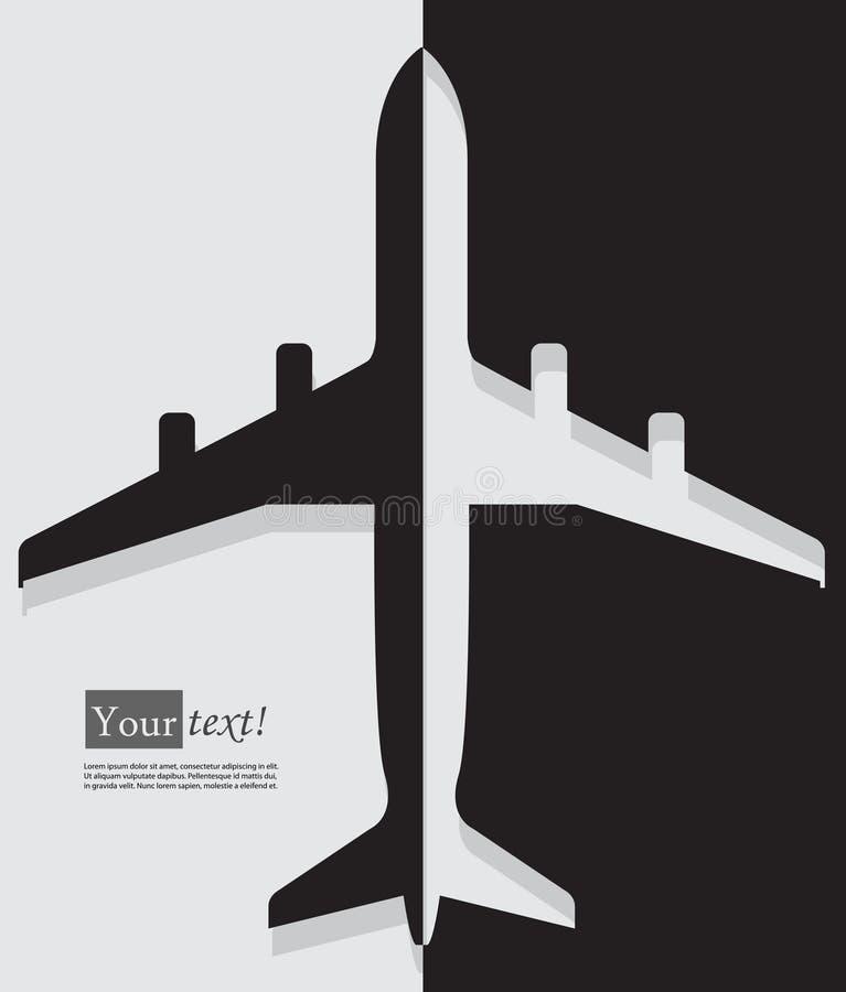 Чернота самолета иллюстрация штока