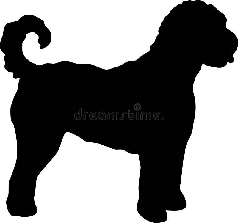 Чернота силуэта Goldendoodle иллюстрация штока