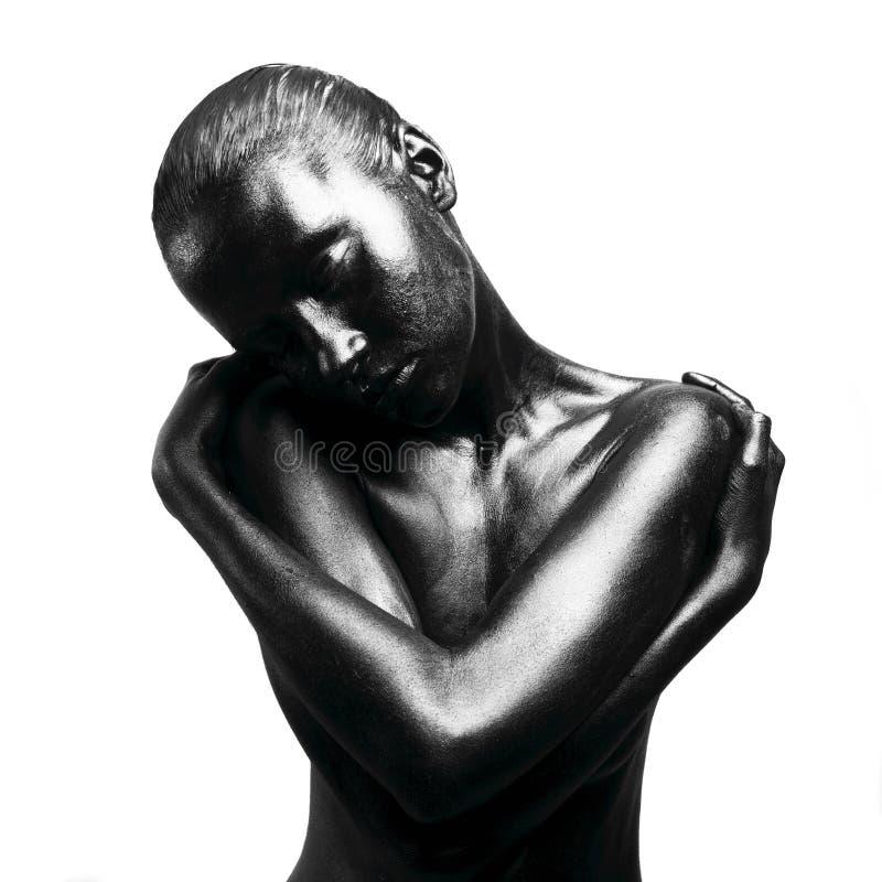 чернота составила женщину стоковые фото
