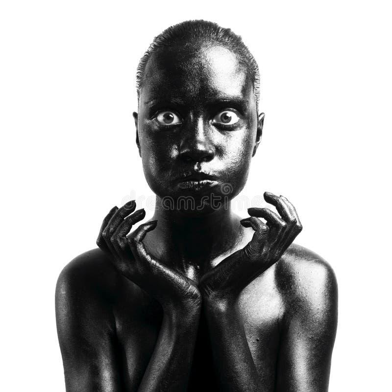 чернота составила женщину стоковое фото