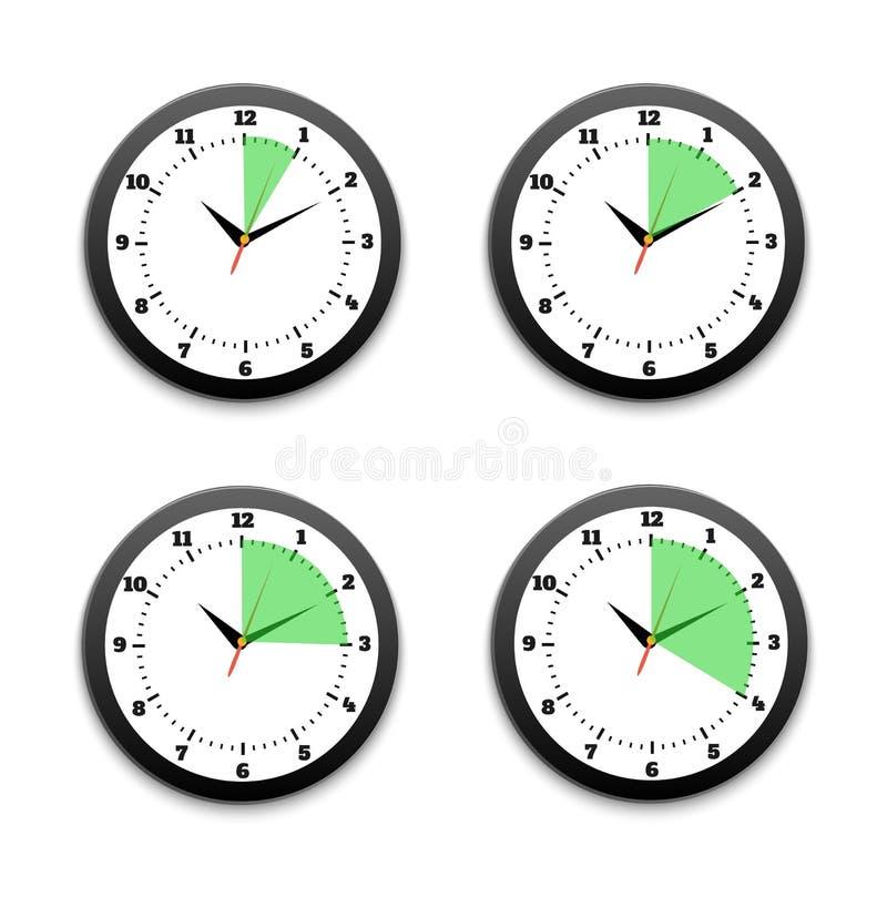 Чернота хронометрирует значок иллюстрация вектора