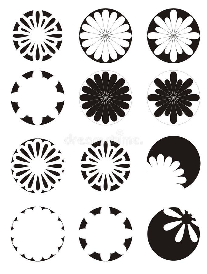 чернота цветет белизна стоковое изображение