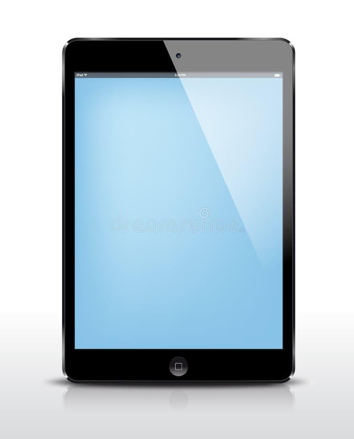 Чернота iPad вектора мини