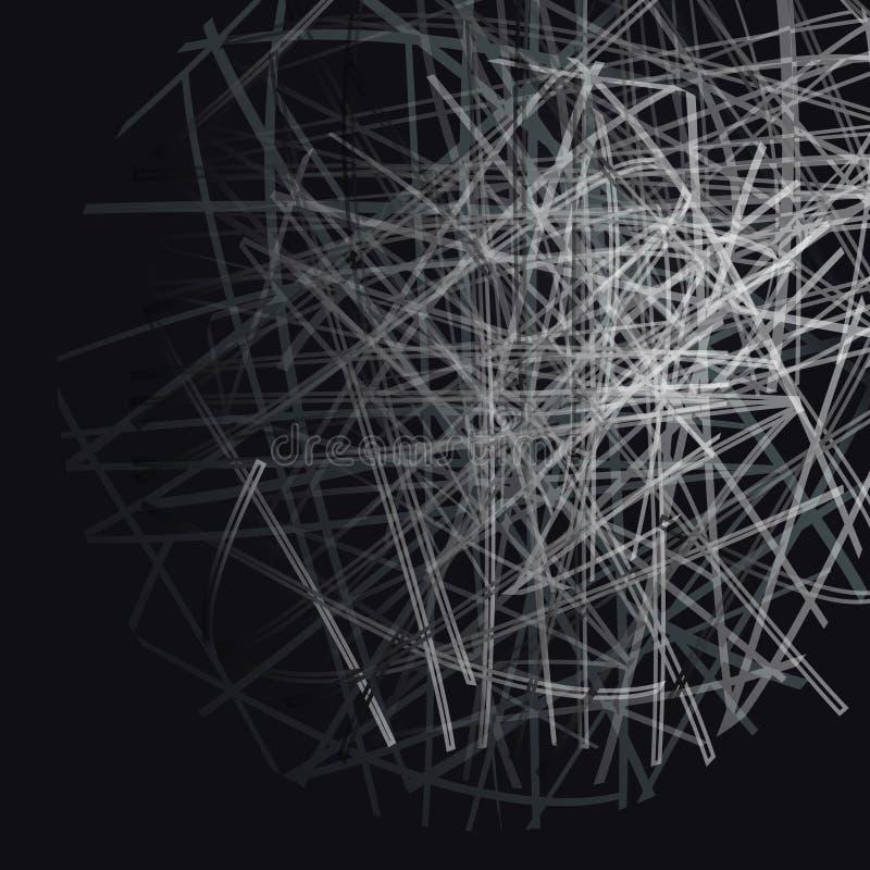 Чернота stripes шарик иллюстрация вектора