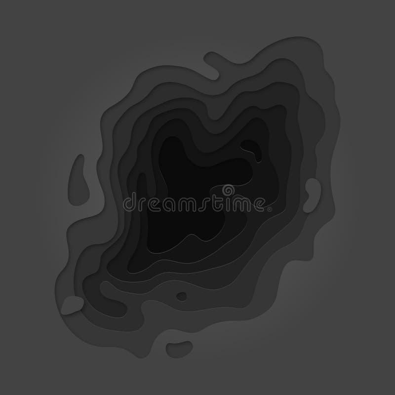 Черноты слоя Papercut multi серая отрезка предпосылка вне иллюстрация штока