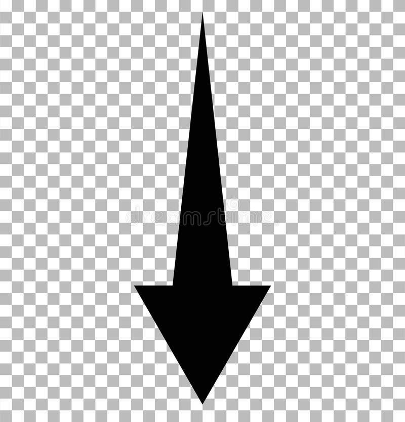 Черноты стрелка вниз на прозрачном стрелка вниз бесплатная иллюстрация