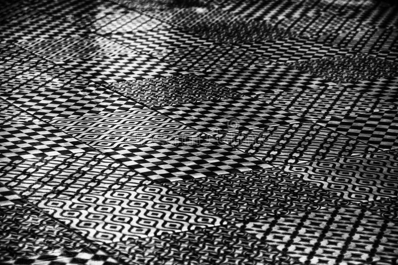 Черно-белая абстрактная картина дизайна различных видов стоковое фото rf