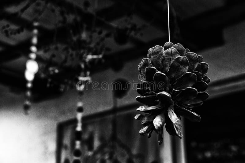 Черно-белая абстрактная картина с элементом конуса стоковая фотография rf