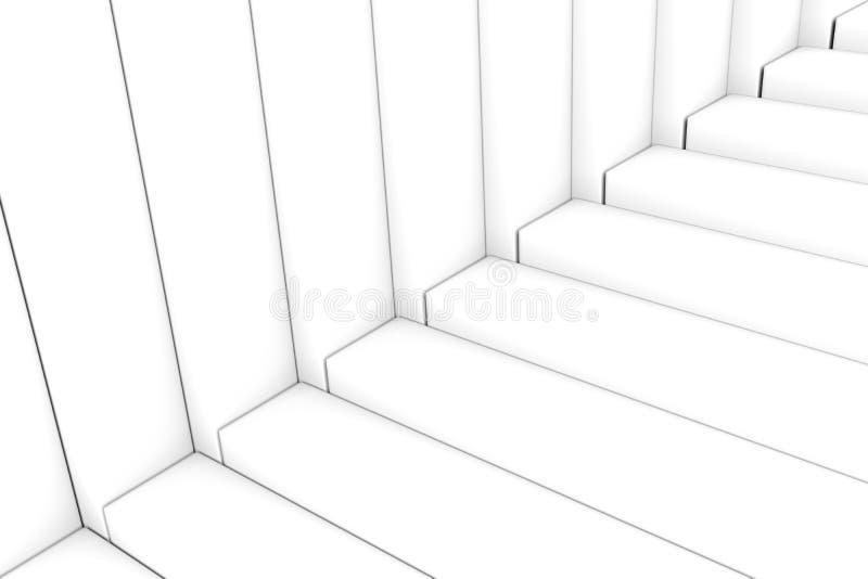 Черно-белая абстрактная коробка лестниц предпосылки бесплатная иллюстрация