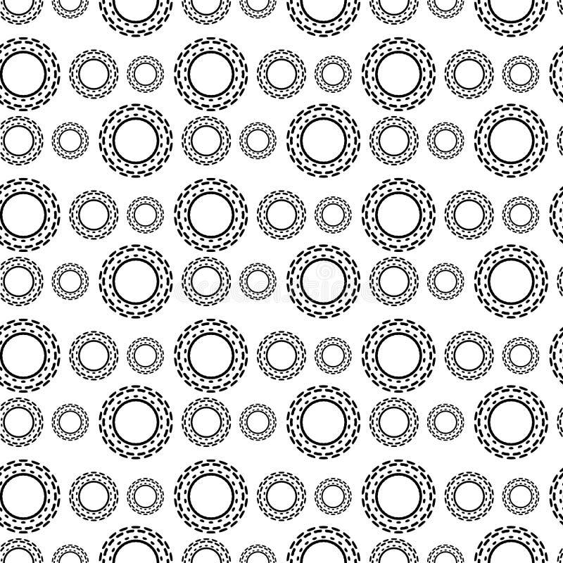 Черно-белая безшовная картина Steampunk иллюстрация вектора