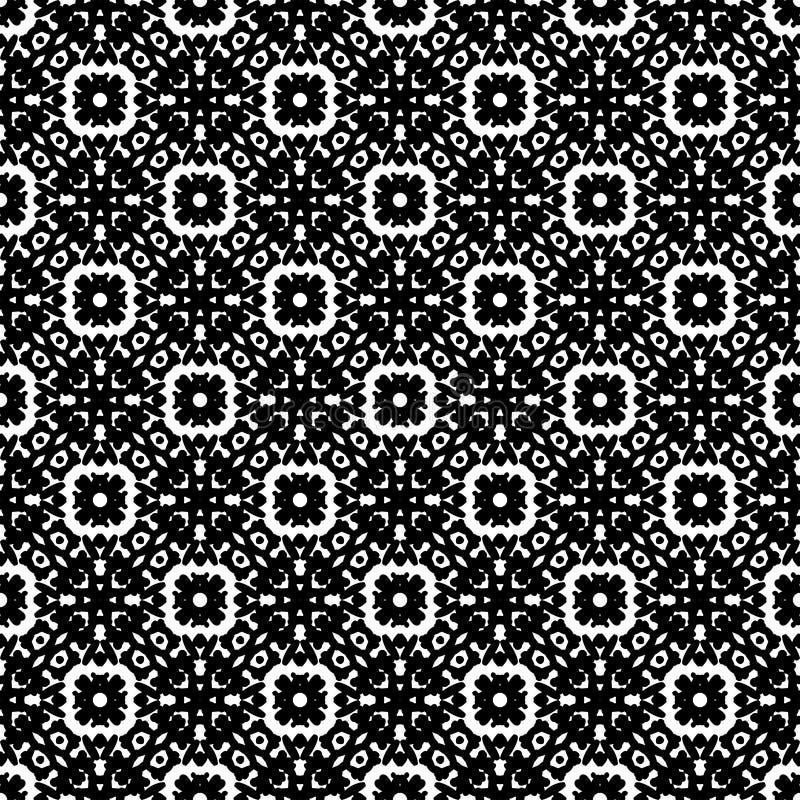 Черно-белая безшовная картина Steampunk бесплатная иллюстрация