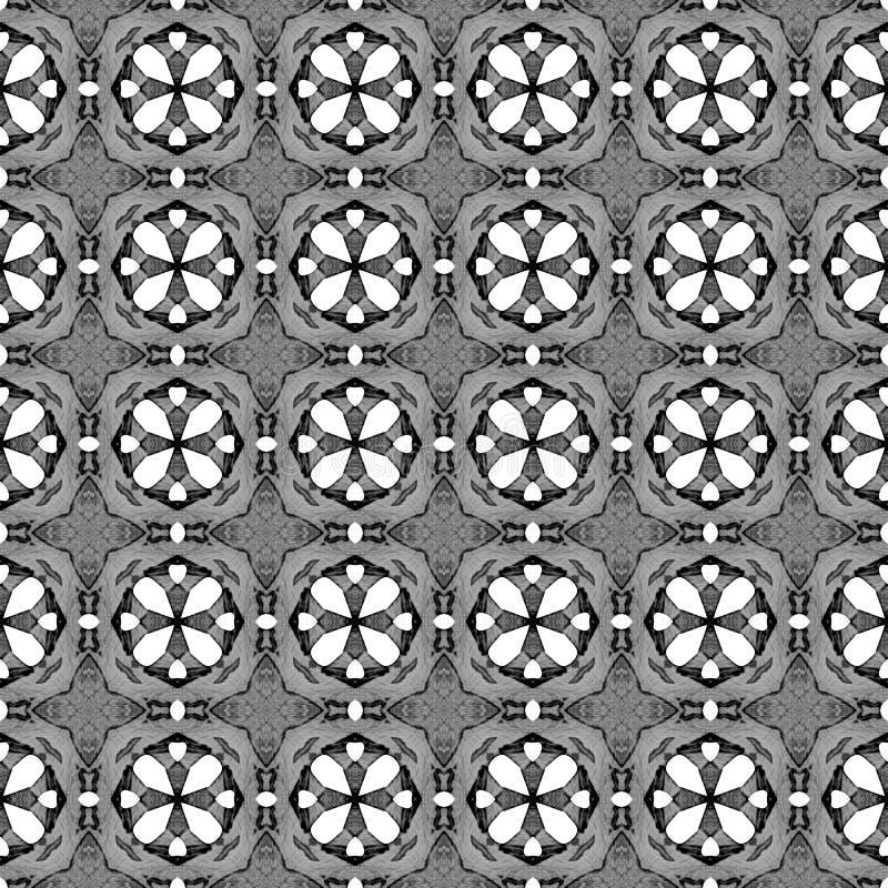Черно-белая геометрическая безшовная картина Рука d бесплатная иллюстрация