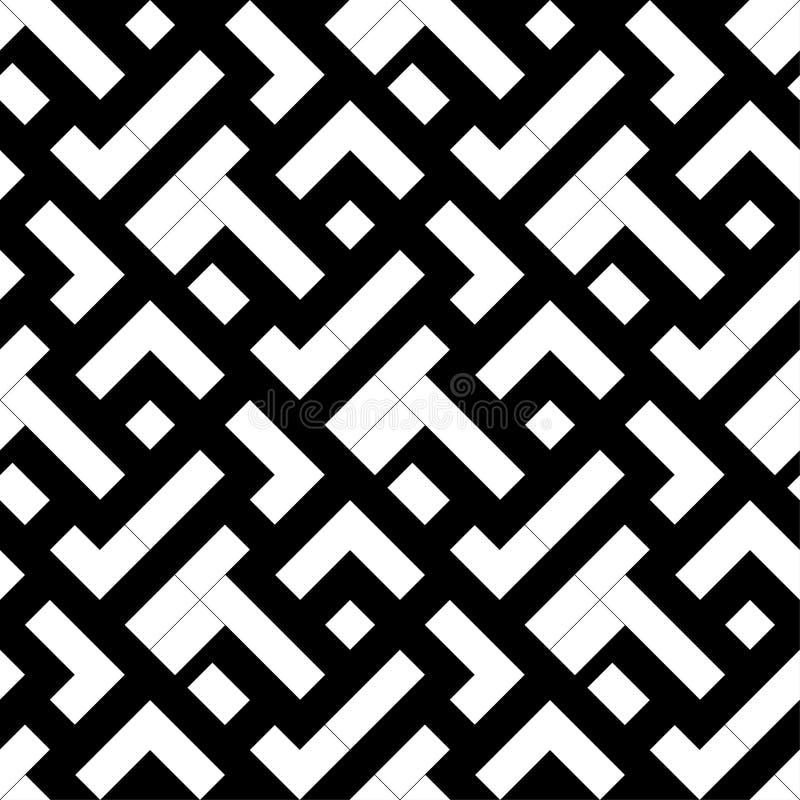 Черно-белая геометрическая печать картина безшовная иллюстрация штока