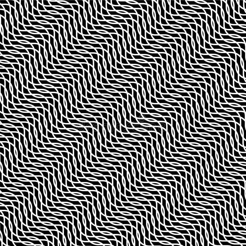 Черно-белая гипнотическая предпосылка иллюзии, вектор иллюстрация штока