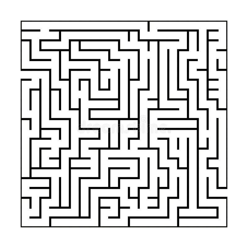 Черно-белая картина лабиринта иллюстрация вектора