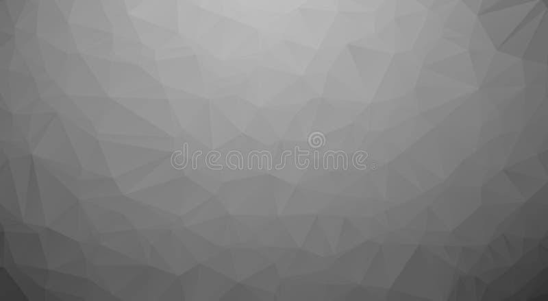 Черно-белая полигональная предпосылка Треугольник, низкое поли искусство популярный и самый лучший бесплатная иллюстрация