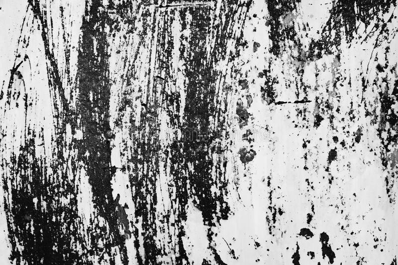Черно-белая пыль и поцарапанные текстурированные предпосылки с курортом стоковое фото rf