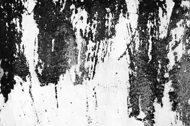 Черно-белая пыль и поцарапанные текстурированные предпосылки с курортом стоковое фото
