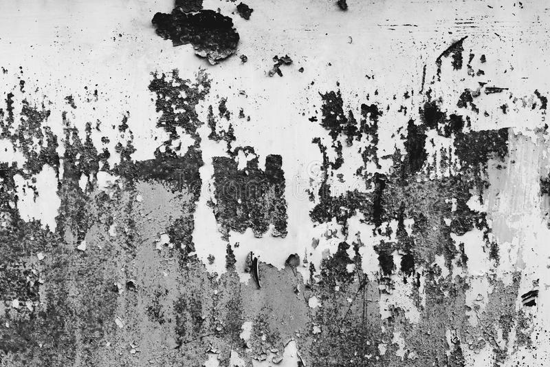 Черно-белая пыль и поцарапанные текстурированные предпосылки с курортом стоковая фотография