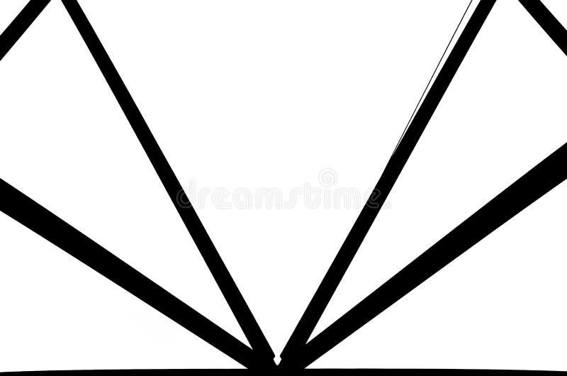 Черно-белая фотография стальной конструкции тетратоэдра в Bottrop, Германии Конструкция имеет треугольник прямоугольника стоковые фото