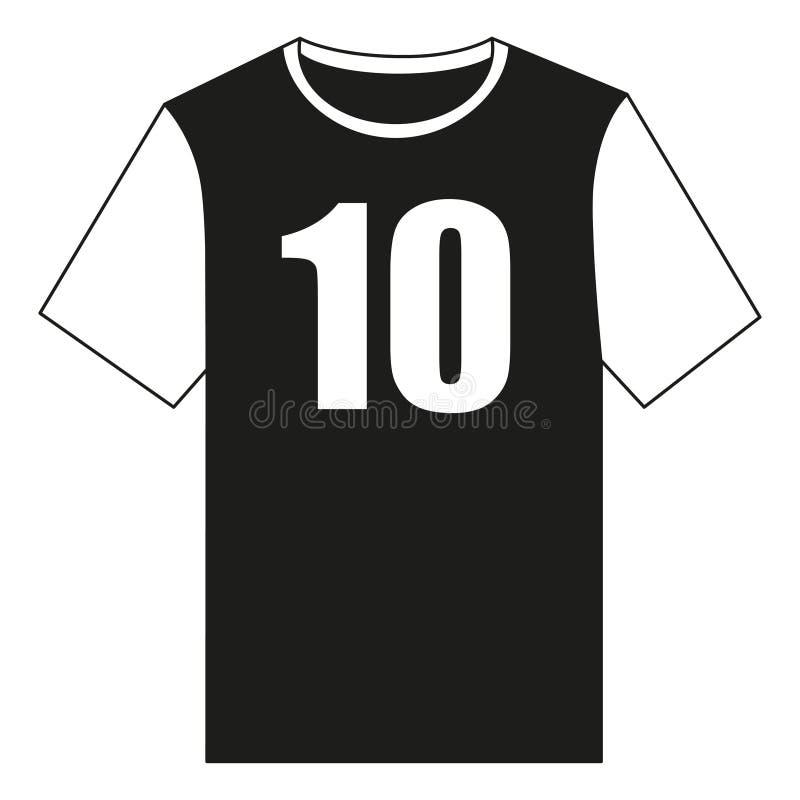 Черно-белая футболка формы футбола иллюстрация вектора