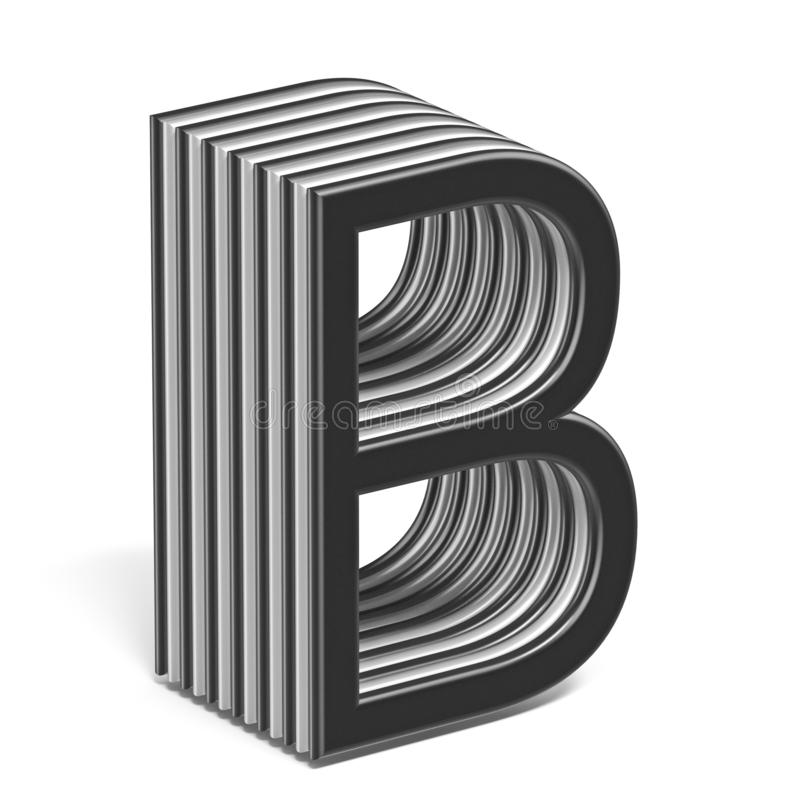Черно-белое наслоенное письмо b 3D шрифта бесплатная иллюстрация