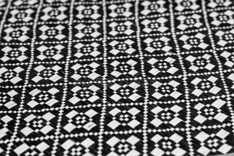 Черно-белое сплетенное бамбуком стоковое изображение rf